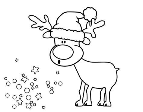 imagenes de navidad para colorear renos dibujo de reno con gorro para colorear dibujos net