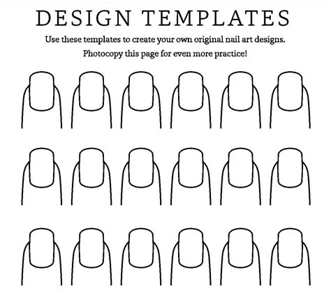 nail template nail for pretty and sweet