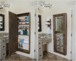 bathroom mirrors with storage ideas 50 decorative rustic storage projects for a beautifully organized home diy crafts
