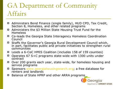 georgia department of community affairs section 8 1 6 addressing family homelessness in rural communities