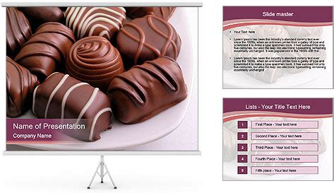 free ppt templates for chocolate chocolate sweets on plate powerpoint template