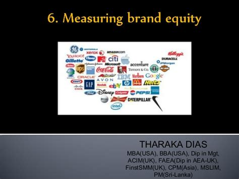 Mba In Brand Management In Usa by 6 Measuring Brand Equity