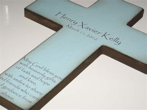 personalized baptism gifts personalized christian cross with poem beautiful baptism gift