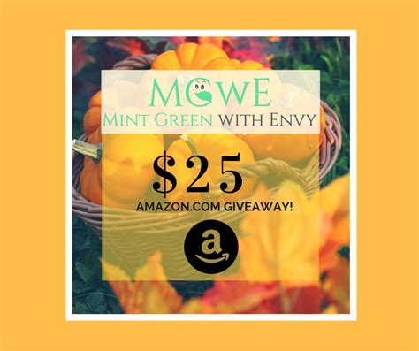 Giveaway Amazon Com - this week s 25 amazon com giveaway 10 2 10 9 mint