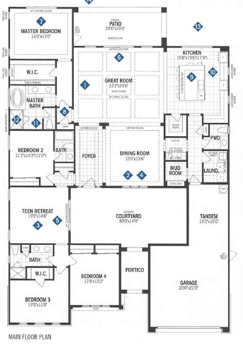 mattamy homes floor plans mattamy homes tortolita floor plan dove mtn