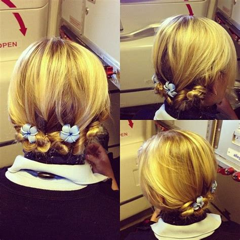 best hairdo for a flight attendant 17 best images about flight attendant hairstyles on