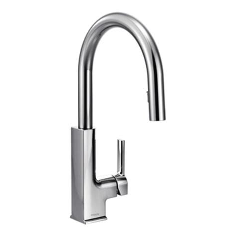 moen white single handle high arc kitchen faucet free moen s72308 sto single handle high arc pulldown kitchen
