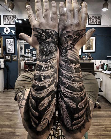 raven forearm amp hand tattoos best tattoo design ideas