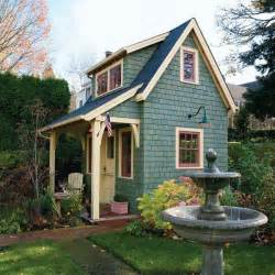 small backyard house old time garden shed