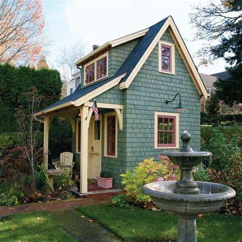 build a mini house in the backyard old time garden shed