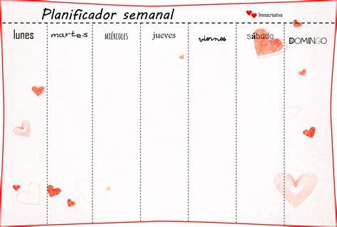 Calendario Semanal Para Imprimir Imma Creativa Enero 2014