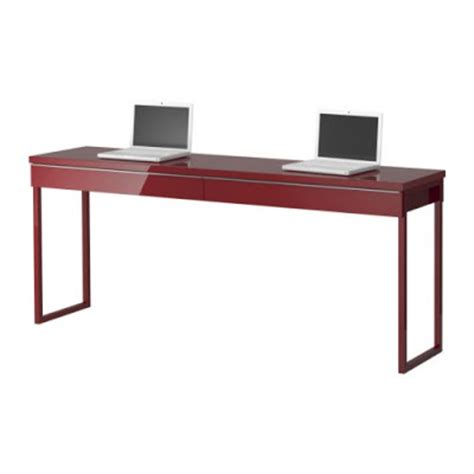 Narrow Desks For Small Spaces The Of Ikea Narrow High Gloss Desk Great For Small Spaces
