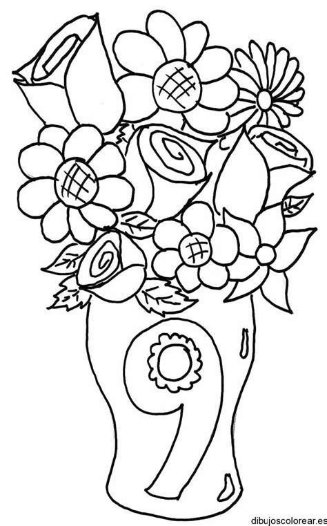imagenes para colorear jardin dibujo del n 250 mero 9 en un florero