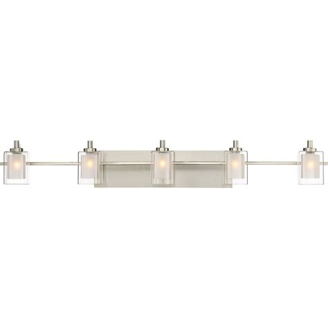 bathroom 5 light fixtures quoizel klt8605bnled kolt modern brushed nickel led 5