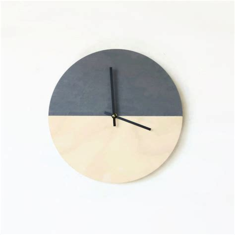 minimalistic wall clock wall clock trending minimalist art natural wood and gray