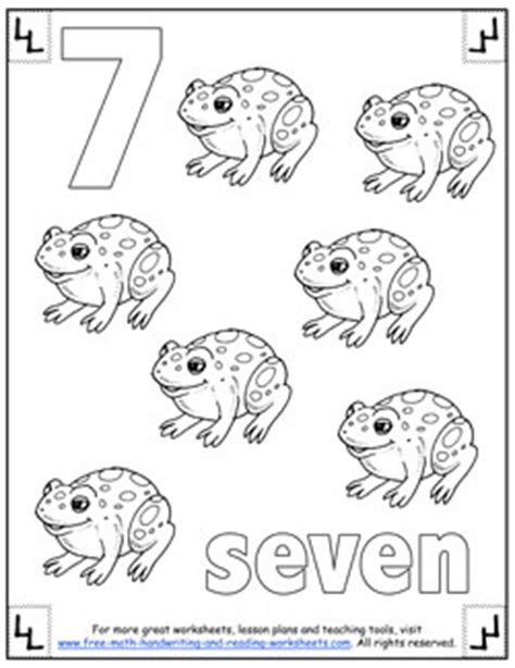 Number 7 Coloring Pages For Preschoolers by Number Coloring Pages