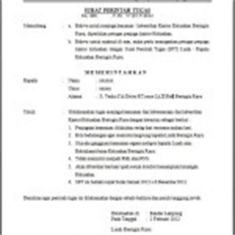 contoh surat keterangan kerja untuk pembuatan rekening