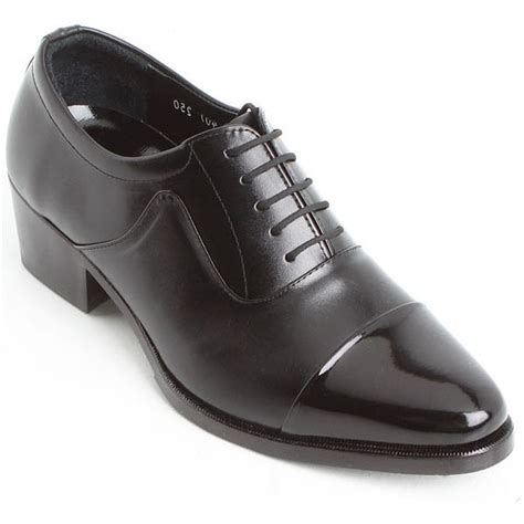 mens real leather stitch lace up dress shoes