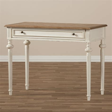 weathered wood writing desk baxton studio marquetterie provincial weathered oak
