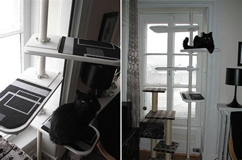 modern cat tree ikea custom modern cat tree using ikea stolmen system hauspanther