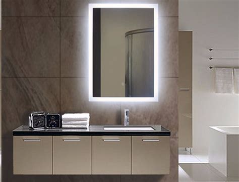 Lighted Mirrors For Bathrooms Modern by Illuminated Bathroom Mirror Lighted Wall Mirrors For