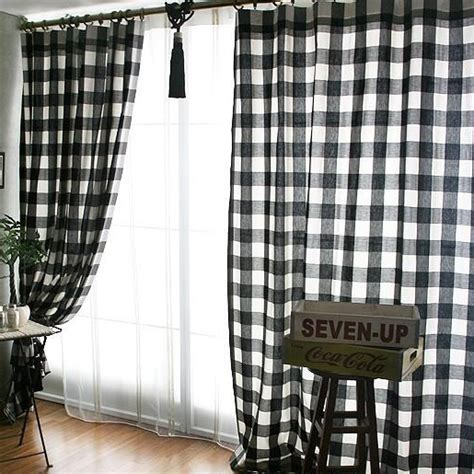 black and white plaid curtains black and white plaid curtains clearance black white