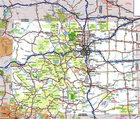 map on road road map of coloradofree maps of us