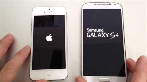 iphone s4 samsung galaxy s4 vs apple iphone 5 performance