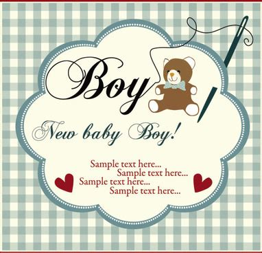 Baby Born Card Template by New Baby Born Vector Free Vector 5 020 Free