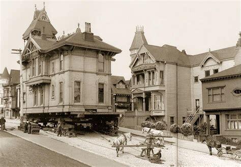 house movers in louisiana moving a house using horses san francisco 1908 la boite verte