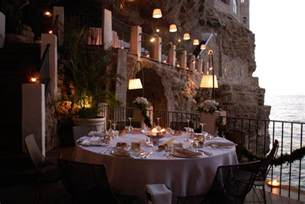 Cave Restaurant Side Of A Cliff Italy by Seaside Cave Restaurant At Hotel Grotta Palazzese Italy