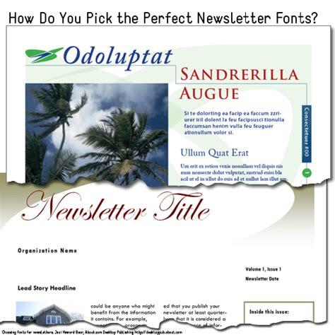 font newsletter design best fonts for newsletters