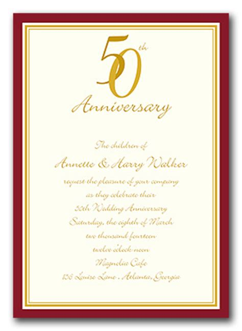 50th anniversary invitation templates free 7 best images of wedding anniversary invitation templates
