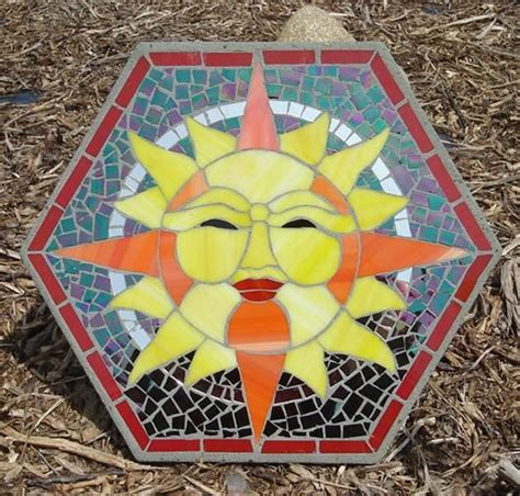 pattern for mosaic stepping stones free patterns mosaic stepping stones sunshine stepping