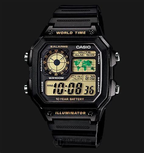beli jam tangan casio ae 1200wh 1bvdf water resistant 100m