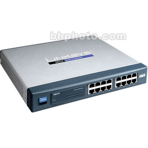 Linksys Switch 16 Port 10 100 Mbps Sd216t linksys 16 port 10 100 ethernet switch sr216 b h photo