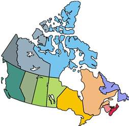 canada map coloured july 2009 free printable maps