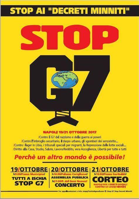 ministri degli interni appello contro il g7 dei ministri degli interni a napoli
