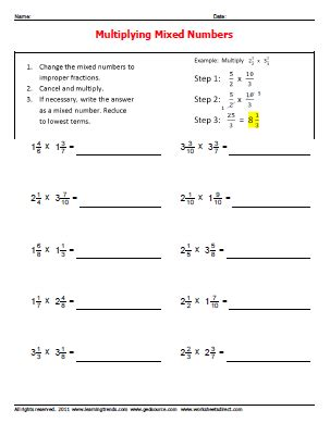 multiplying and dividing mixed numbers worksheet multiplying mixed numbers worksheets 187 worksheetsdirect