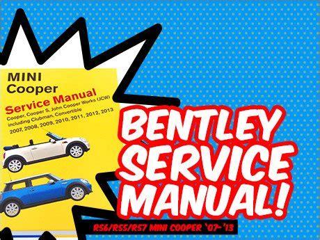 service and repair manuals 2012 mini cooper clubman regenerative braking ecs news r56 r55 r57 mini cooper bentley service manual