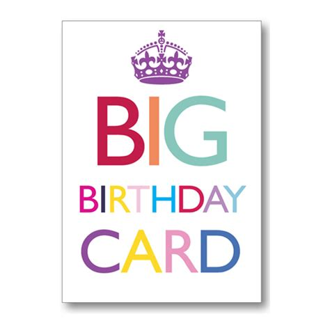 Birthday Card For Big Big Birthday Card Keep Calm Xl Bluebell 33