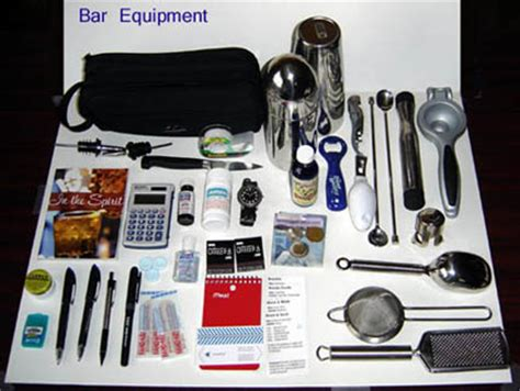Bartender Supplies Bar Tools And Equipment List Of Drink
