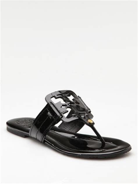 Sandal Square Black burch square miller patent leather sandals in