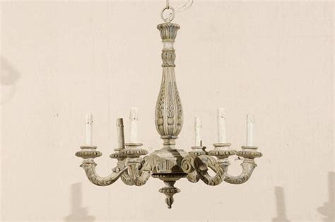 Parisian Wood Chandelier Vintage Six Light Carved Wood Chandelier For Sale At 1stdibs