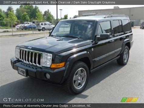 2007 Black Jeep Commander Black Clearcoat 2007 Jeep Commander Sport 4x4