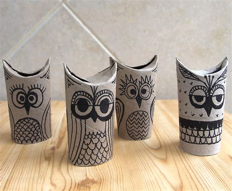 How To Make Owls Out Of Toilet Paper Rolls - toilet paper owls great for a rainy day creative