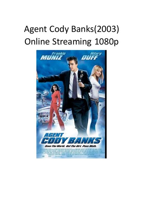 film komedi streaming agent cody banks 2003 online streaming 1080p film action