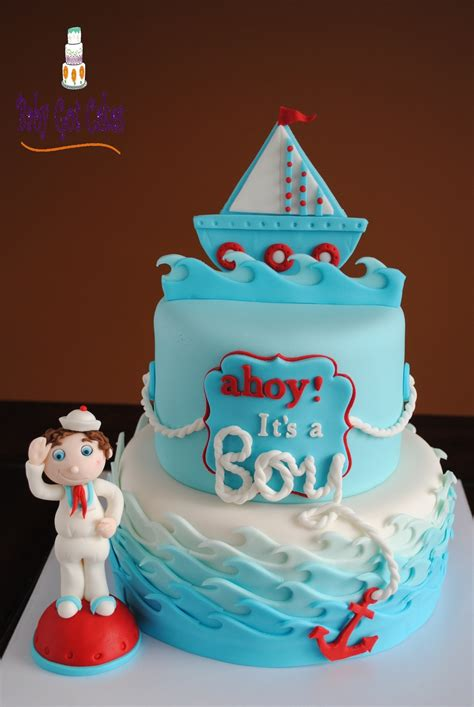 Ahoy Baby Boy Baby Shower by Ahoy It S A Boy Nautical Baby Shower Cakecentral