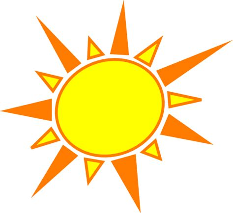 clipart sun yellow and orange sun clip at clker vector clip