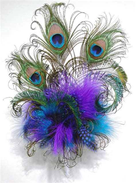 feather cake topper with peacock or your choice of